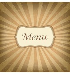 Retro label with menu vector