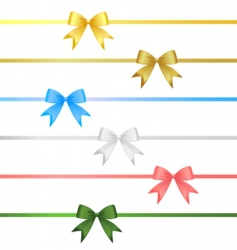ribbon bow set vector image