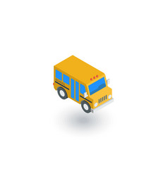 school bus isometric flat icon 3d vector image