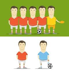 Soccer team clip-art vector