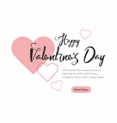 Valentines day party web banner background vector