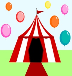 Circus tent with balloons vector image