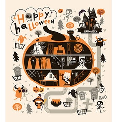 Halloween Party Design template with the Dracula vector image
