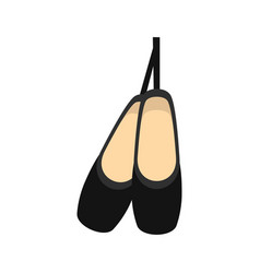 pointe shoes icon flat style vector image