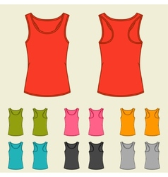 Set of templates colored singlets for women vector image