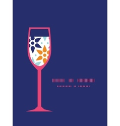 abstract colorful stars wine glass vector image