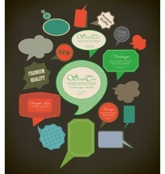 Abstract retro speech bubbles vector image