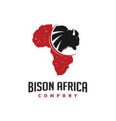African map design for bison maps vector