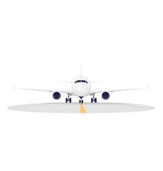 Airport runway semi flat rgb color aeroplane vector