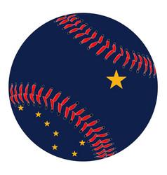 Alaska flag baseball vector