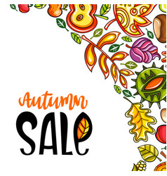 Autumn sale corner 2 vector