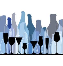 Background bottle blue vector