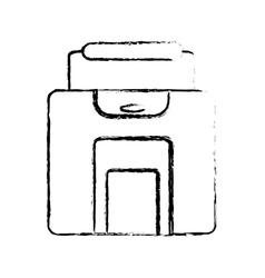 Baggage suitcase travel sketch vector