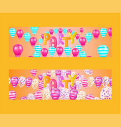 balloon font set of banners vector image