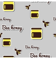 Bank With Honey And Bee vector