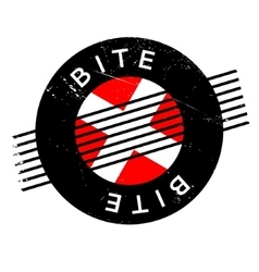 Bite rubber stamp vector