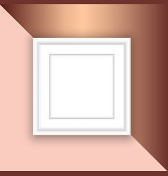 blank picture frame on rose gold background vector image