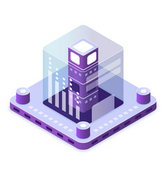 blockchain technology isometric vector image