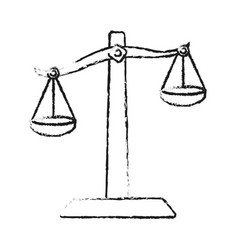 blurred silhouette balance symbol of justice vector image