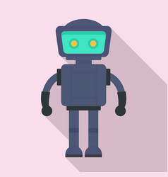 bot robot icon flat style vector image