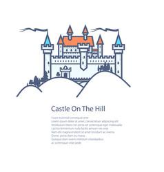 Brochure castle hill flyer design vector