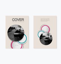 brochure template design for presentations vector image
