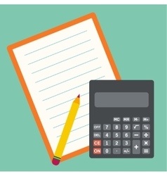 Calculator sheets of paper vector image