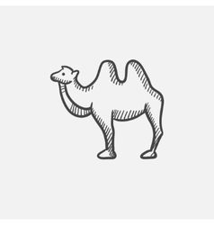 Camel sketch icon vector image