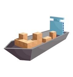 Cargo ship icon cartoon style vector