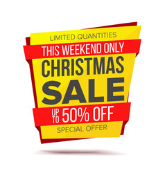 Christmas sale banner discount up to 50 vector