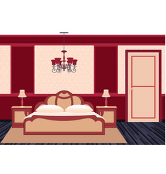 classic bedroom interior in bright colors vector image