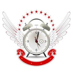 clock alarm emblem vector image
