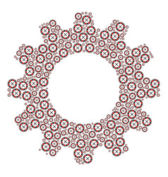 cog composition of roulette icons vector image