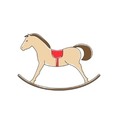 Colorful Rocking Horse Isolated on White vector image