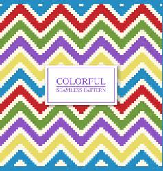 colorful seamless geometric pattern - xmas zigzag vector image