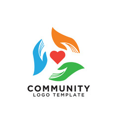 Community organization logo design template vector