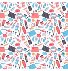 Cosmetic seamless pattern cosmetology art vector