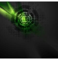 Dark green hi-tech design with grunge texture vector image vector image