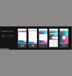 Design mobile application ui ux set of vector