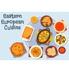 Eastern european cuisine dinner icon vector