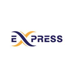 express logo icon design template vector image