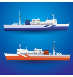 Ferry ship eps10 vector
