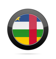 flag of central african republic black button vector image