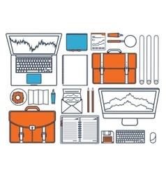 Flat background Market trade vector image
