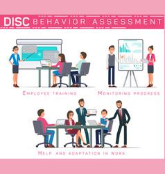 Flat banner disc behavioral assessment vector