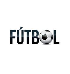 Futbol football soccer concept word art vector