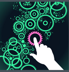 gears controlled by people vector image