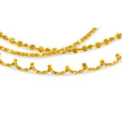 Golden garland set vector