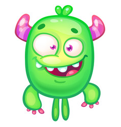 green monster vector image