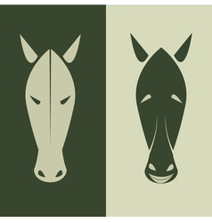 Horse mask vector image
